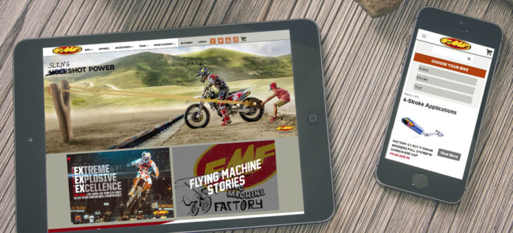 FMF Racing app on iPad and iPhone